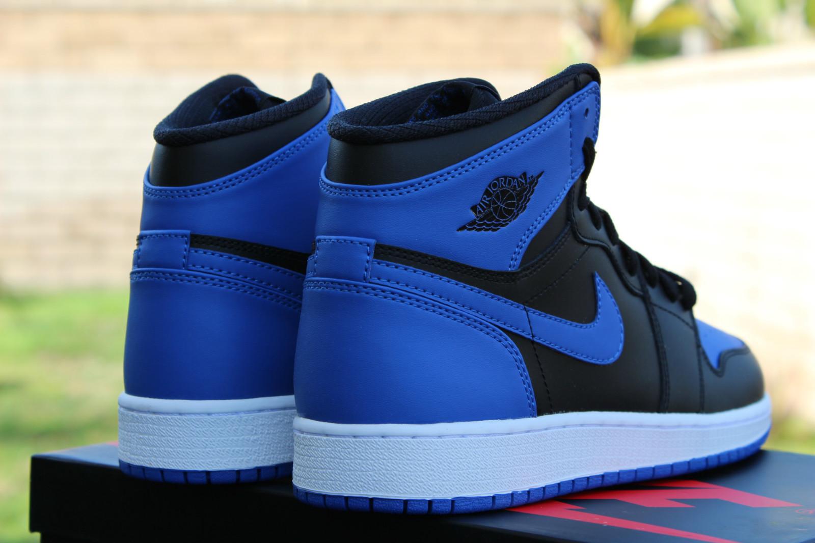 air jordan 1 retro high og gs black royal blue. Black Bedroom Furniture Sets. Home Design Ideas