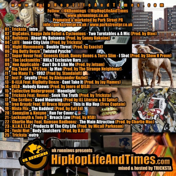 UK Runnings Presents HipHopLifeAndTimes_com - Vol 1 - back